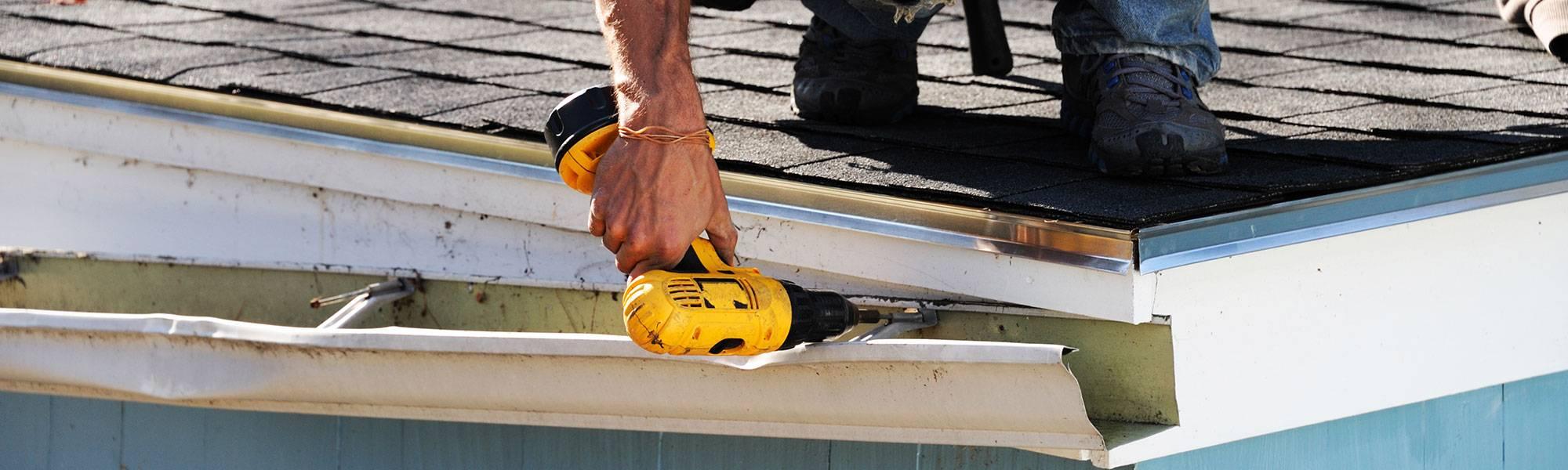 roofline repairs on a fascia