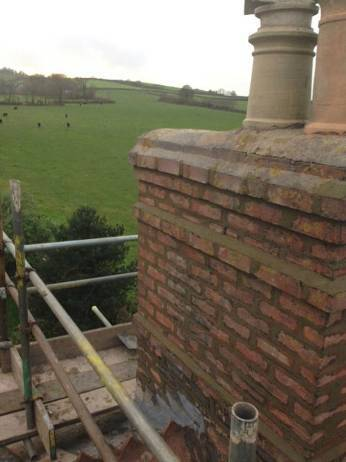 chimney that has been repointed