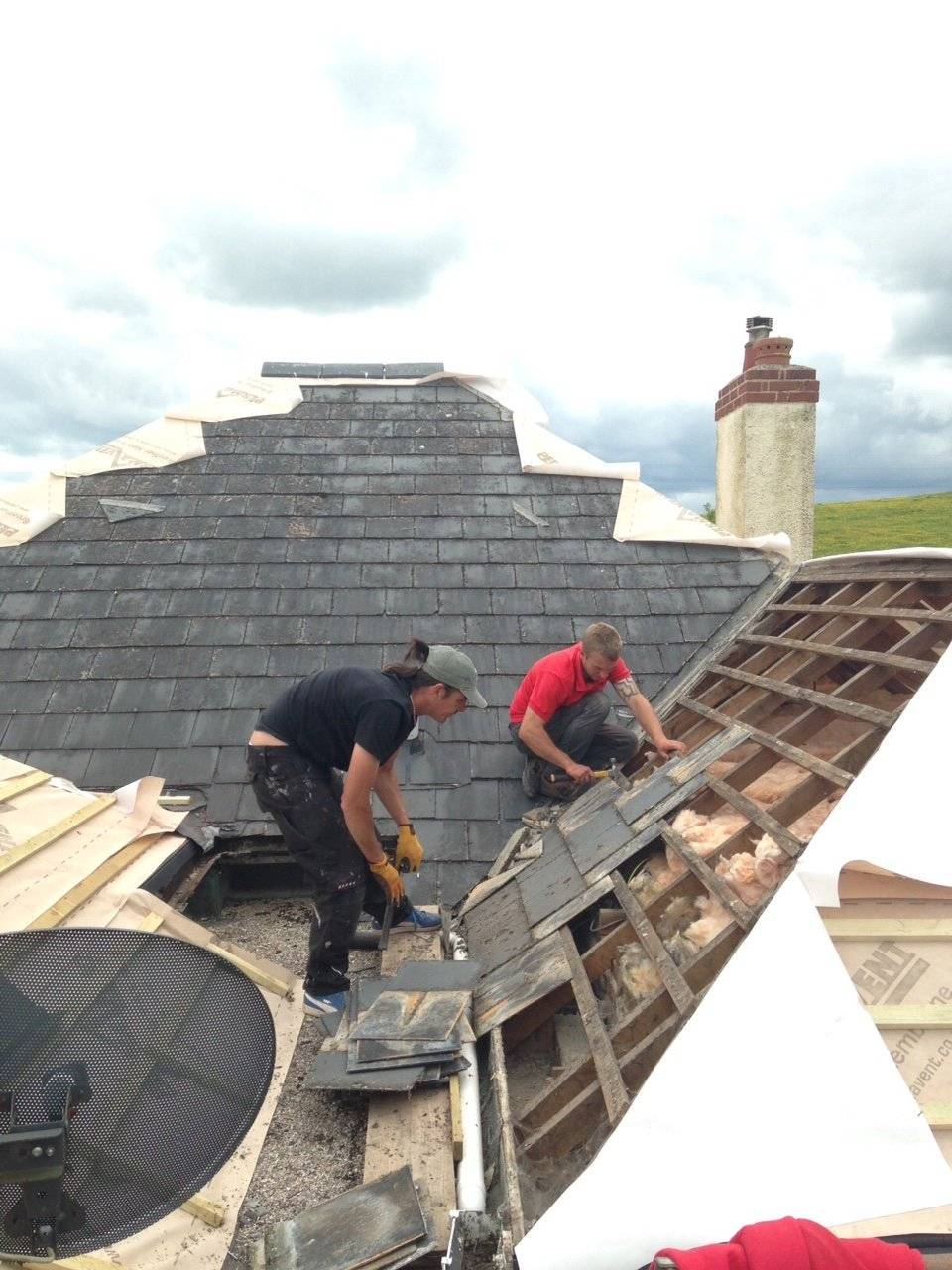 pitched roof roof replacement by professional roofers