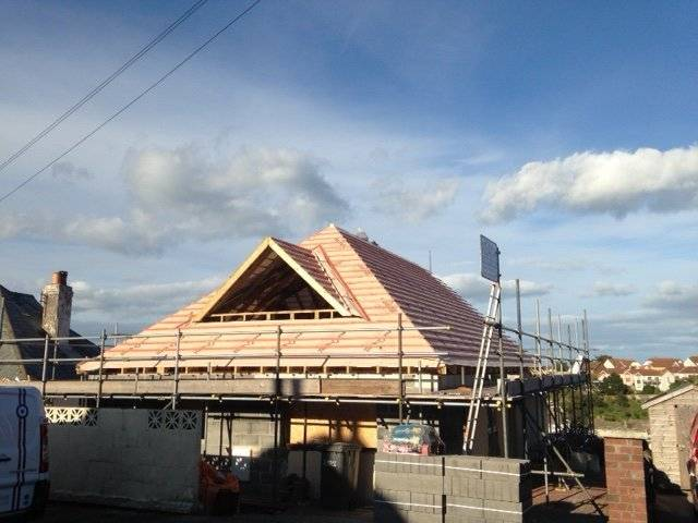 new roof works on a bungalow in devon