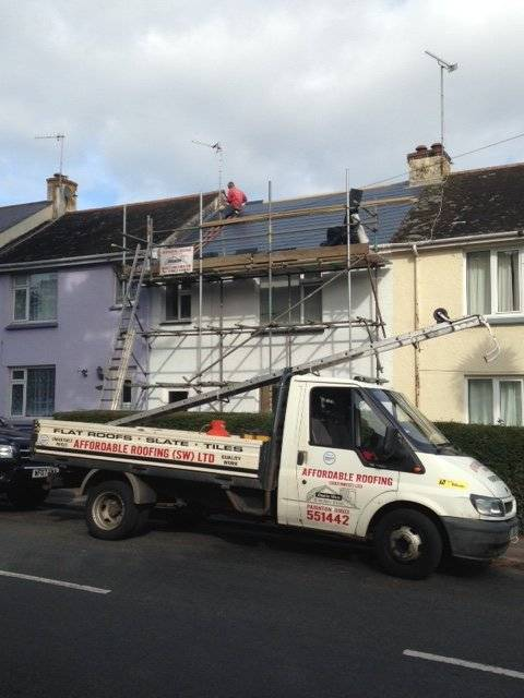 roof replacement on a house in Devon