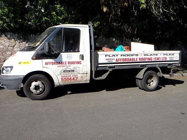 Affordable Roofing pick up truck